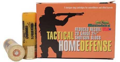 "Brenneke Tactical Home Defense Slug 20 Ga 2.75"" .75 Oz (Per 5) Ammunition"