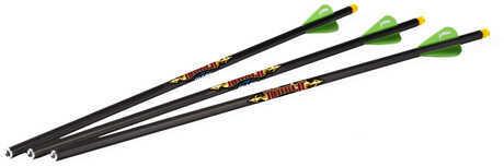 "Excalibur Diablo 18"" Carbon Arrows 3 Pack, Illuminated Md: 22DV18Il-3"