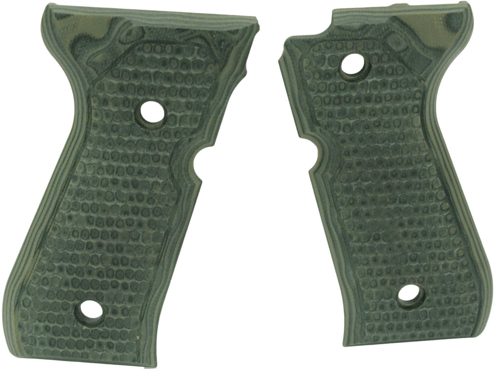 Hogue Beretta 92 Grips Piranha G-10 G-Mascus Green Md: 92138
