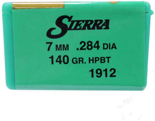 Sierra 7mm/284 Caliber 140 Grains HPBT Gameking /100 Md: 1912