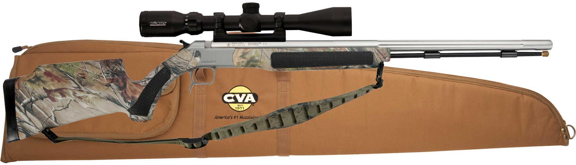 Cva Accura V2 Muzzleloader 50 Caliber Stainless Steel Camo Scope And Case