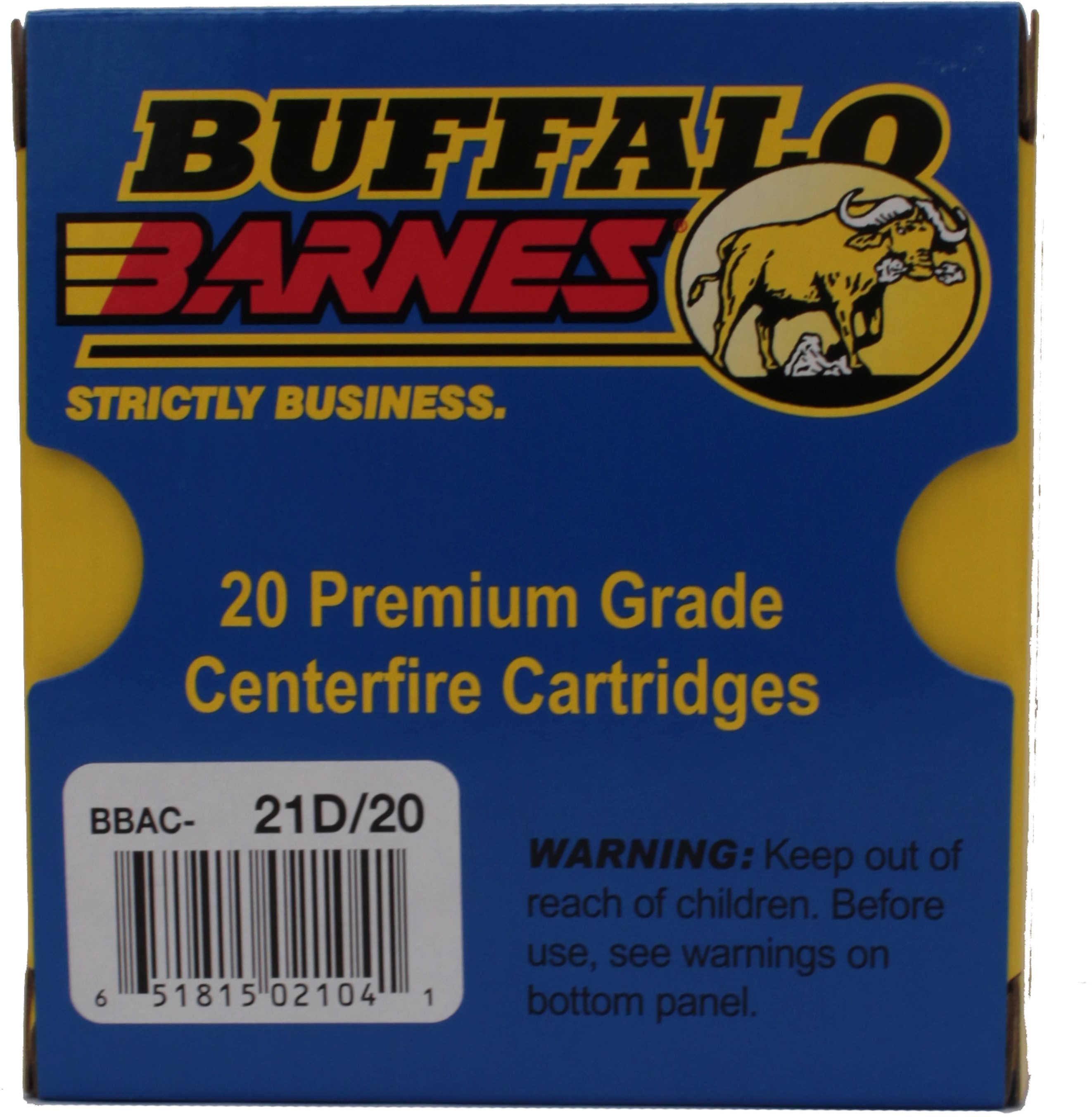 Buffalo Bore Ammunition 21D/20 Buffalo-Barnes Lead-Free 10mm Auto 155 GR Barnes TAC-XP 20 Bx/ 12 Cs