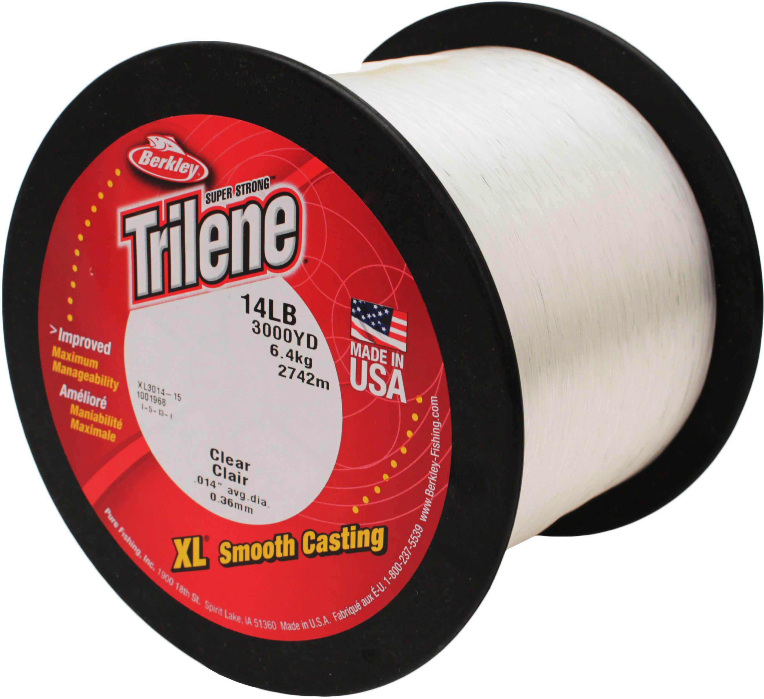 Berkley Trilene Xl Line 3000Yd 14# Clear Md#: Xl3014-15