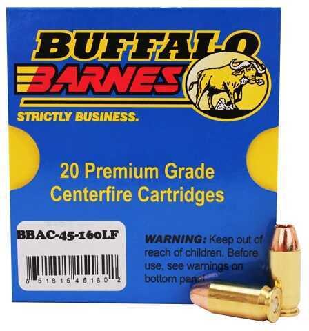 45ACP+P Barnes TAC-XP 160 Grain 20 Rounds Ammunition