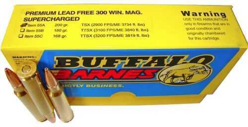 Premium Sport Cartridge 300 Winchester Magnum 200 Grains Barnes TSX (Per 20) Md: 55A/20