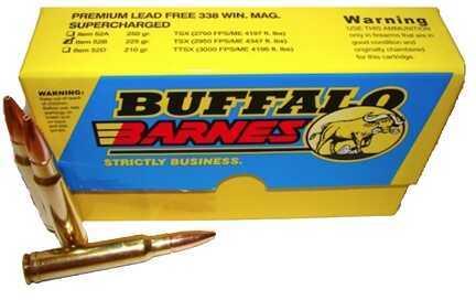 Premium Sport Cartridge 338 Winchester Magnum Barnes TSX (Per 20) 225 Grains Md: 52B/20
