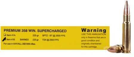 Premium Sport Cartridge 358 Winchester 225 G Grain Barnes TSX (Per 20) Md: 41B/20