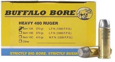 Buffalo Bore Heavy 480 Ruger 370 Grain Hard Cast LBT-LFN (Per 20) Md: 13A/20