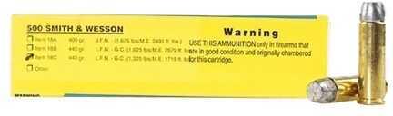 Buffalo Bore Ammunition 500 S&W 440 Grain Hard Cast Long Flat Nose-GC (Per 20) 1325 Fps Md: 18C/20