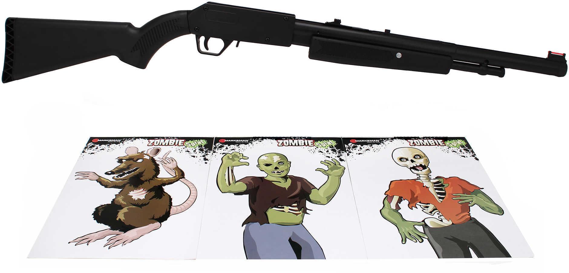 Zombie .177 Single Stroke BB Gun Pump Action, 20 Round Md: 2021Z