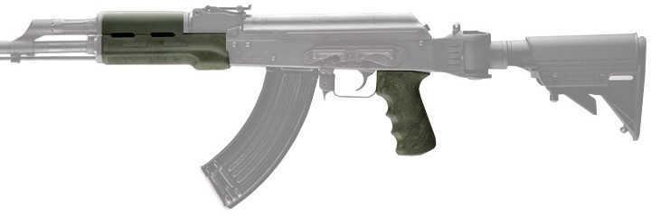 Hogue AK-47 Rubber Grip Standard W/Forend, Ghillie Green Md: 74808