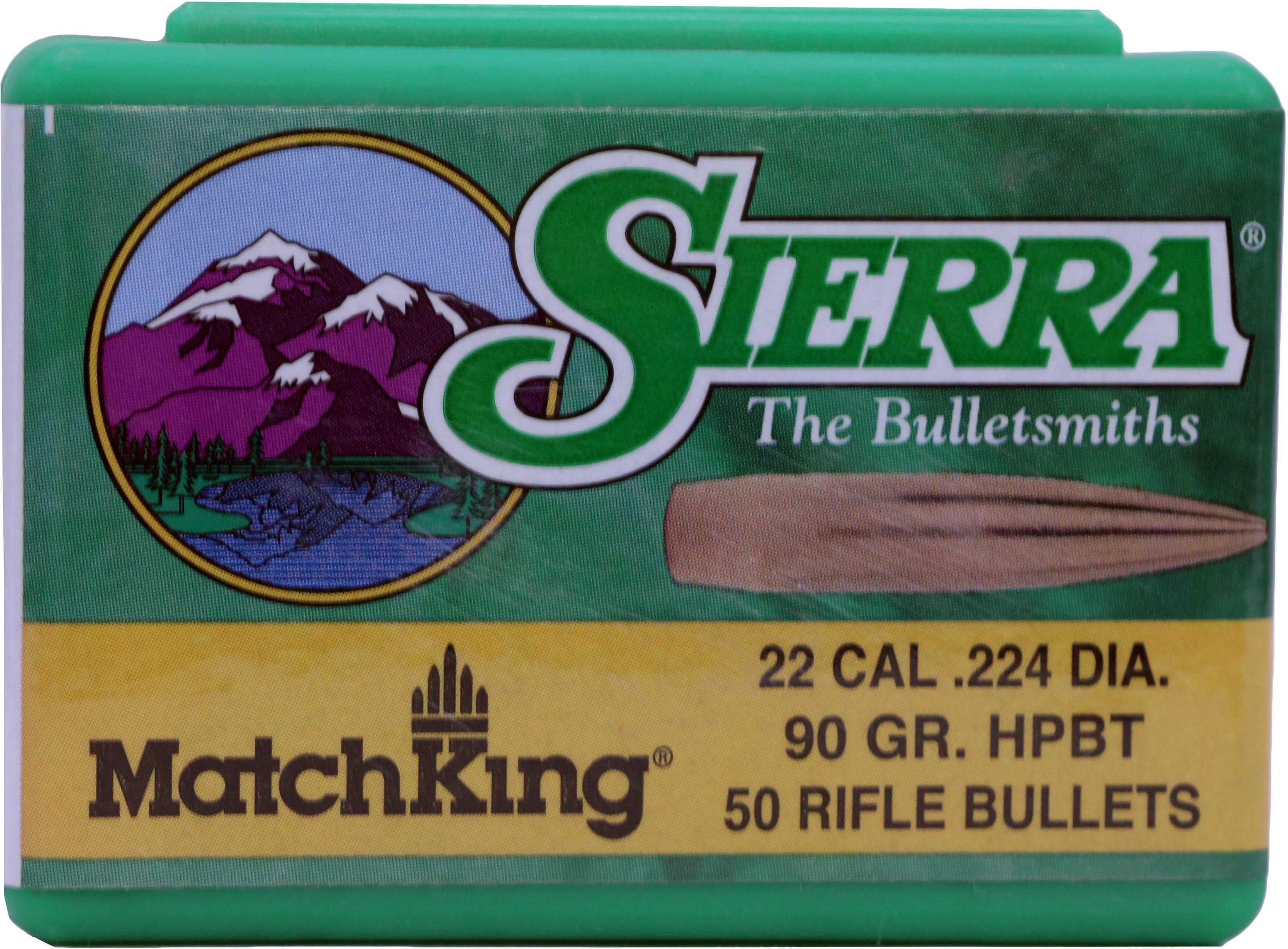 Sierra 22 Caliber (.224) 90 Grains HPBT/50 Md: 9290T