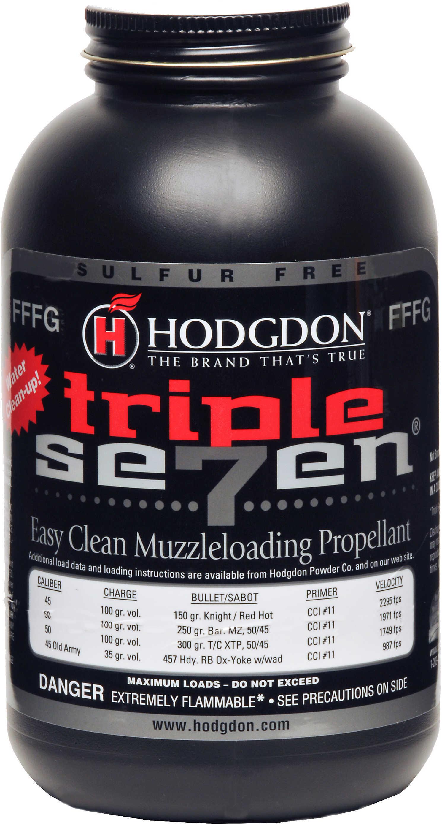 Hodgdon Triple Seven Powder FFFG 1 lb. HAZMAT Model: T73