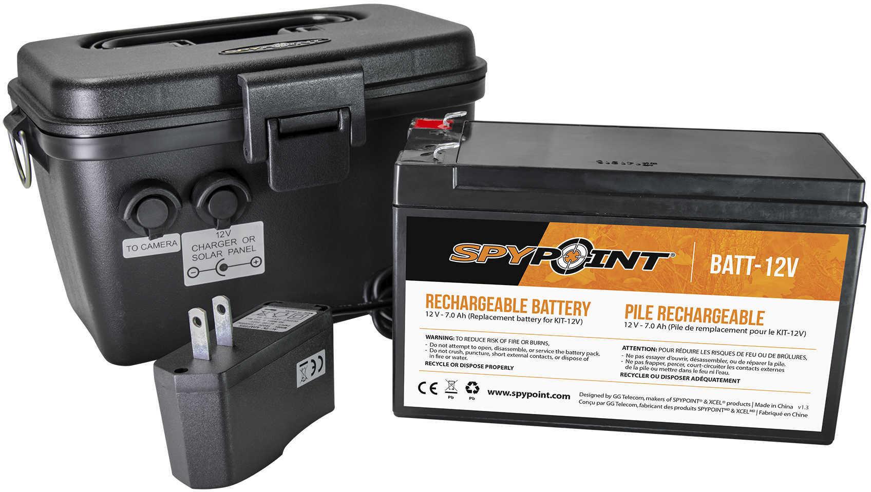 SpyPoint 12V Battery, Charger and Housing Kit KIT-12V