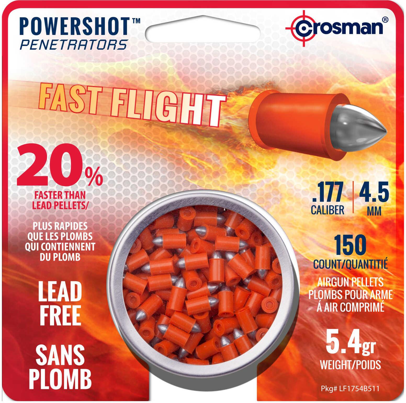 Crosman Powershot Fast Flight Penetrators .177 cal. 150 pk. Model: LF1754