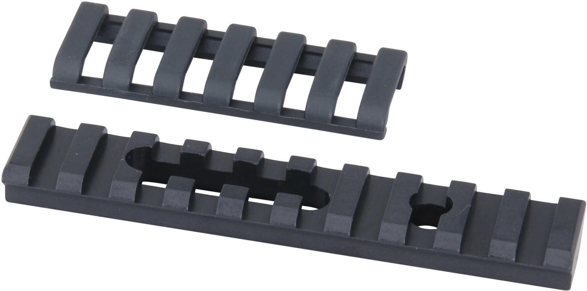 Aluminum Ump Rail 10 Slot With Ergo Covers, 1 Hole/1 Slot, Black Md: 4754