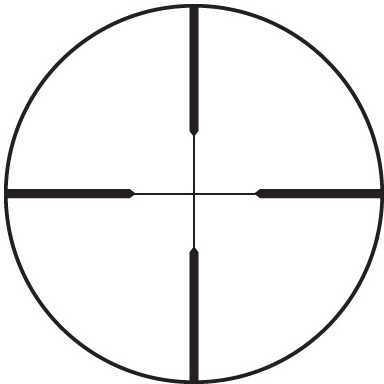 "Leupold Rifleman Rifle Scope 4-12X40 1"" Wide Duplex Reticle Matte Finish 56170"