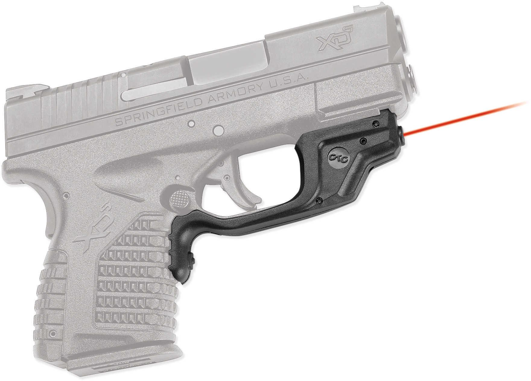 Crimson Trace Corporation Laserguard Red Laser Fits Springfield XD-S Black Finish User Installed LG-469