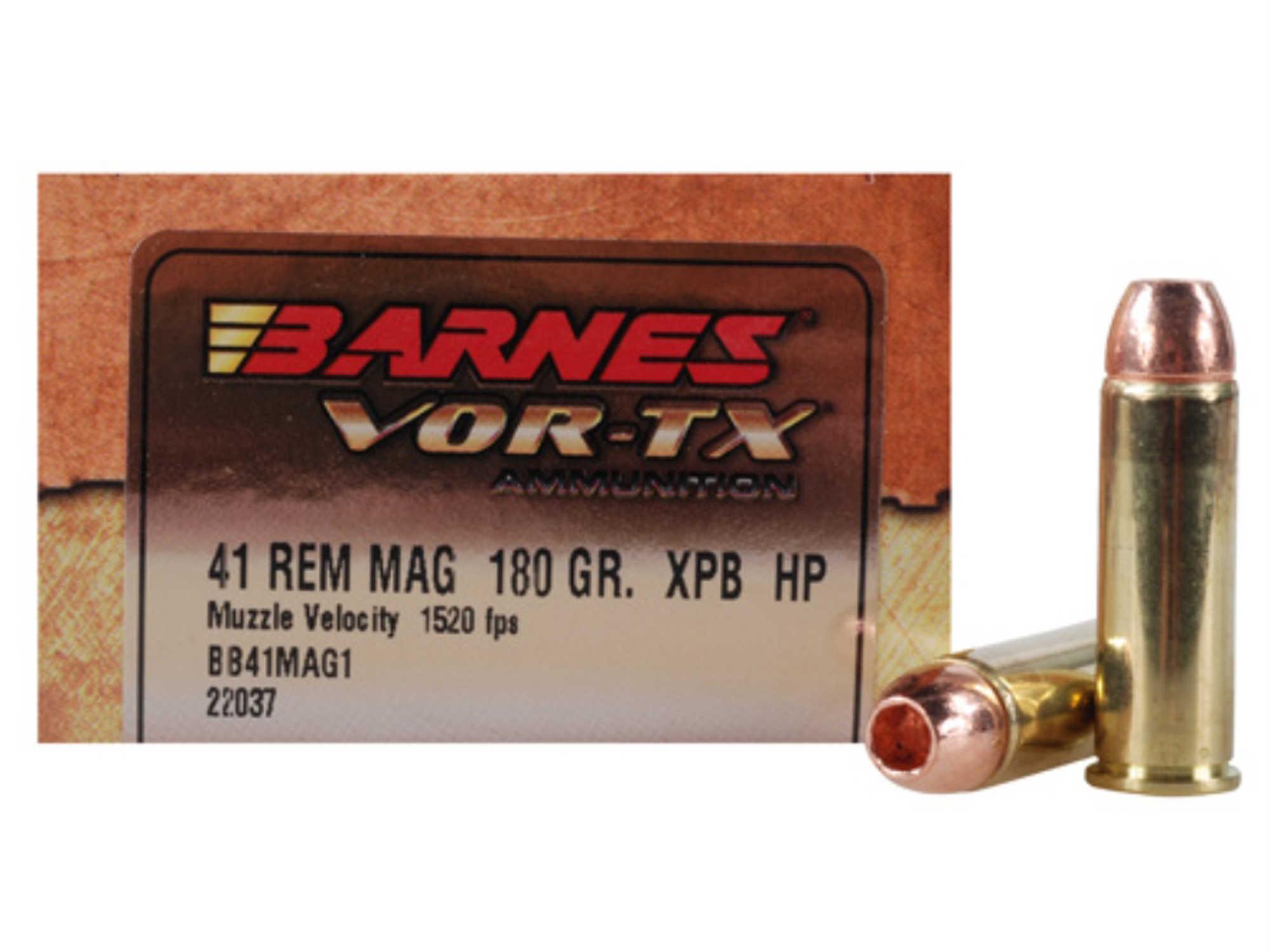 Barnes 41 Remington Magnum 180 Grain XPB (Per 20) Md: 22037