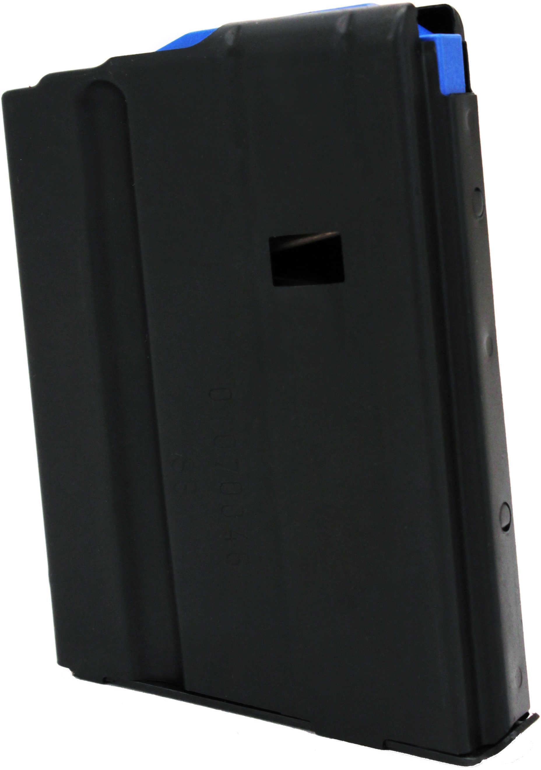 AR-15 Magazine 6.5mm Stainless Steel Matte Black/Blue Follower 10 Round Md: 1065041176Cpd