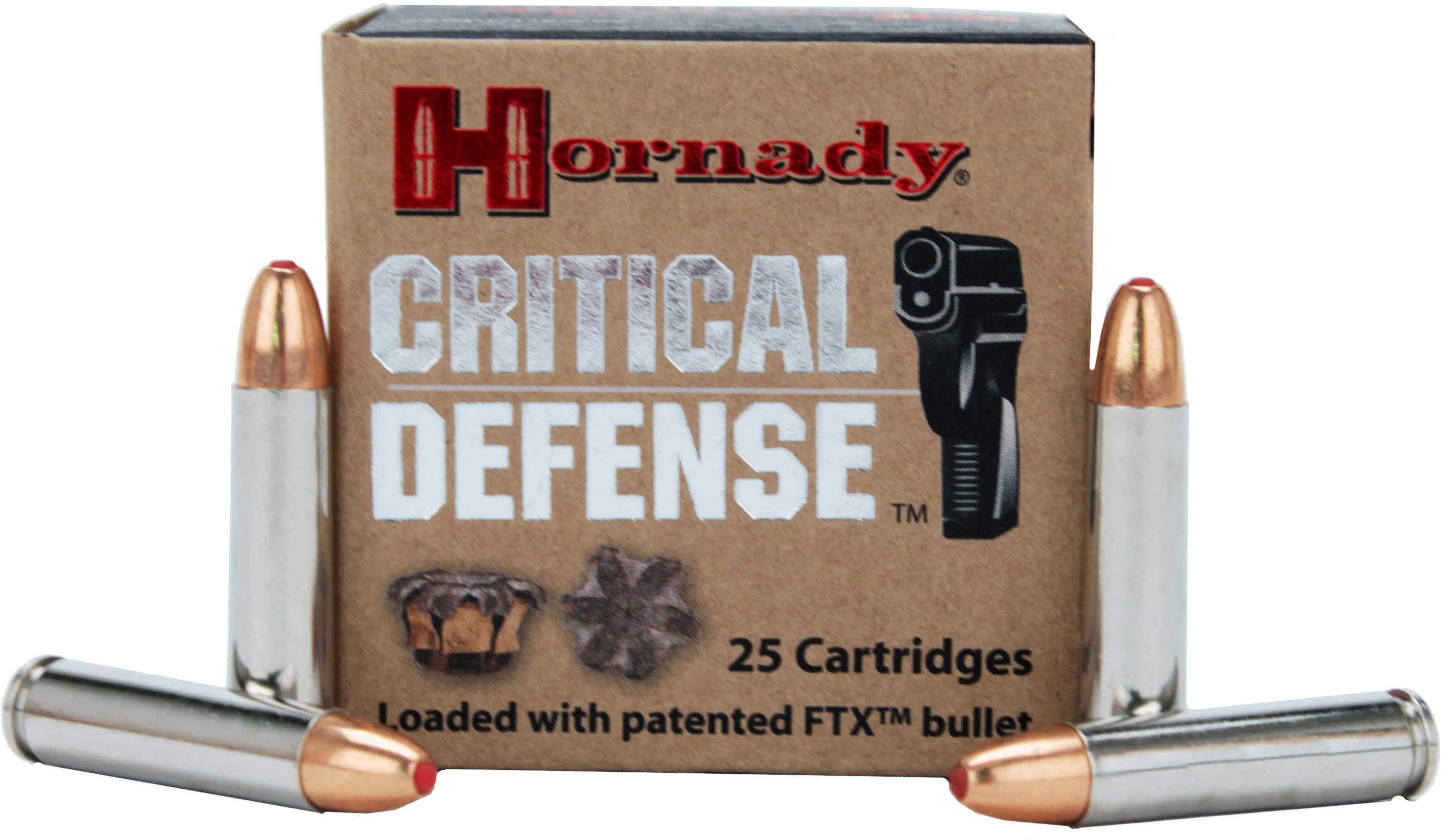 Hornady Critical Defense 30 Cabine 110 Grain FTX (Per 25) Md: 81030