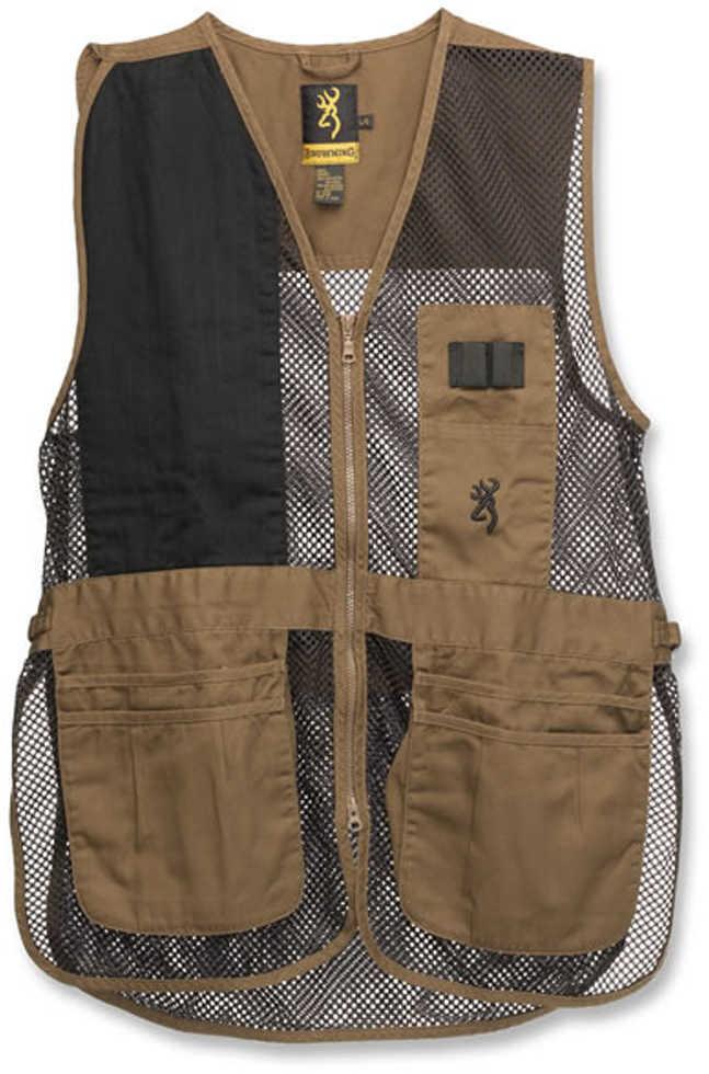 Browning Trapper Creek Vest Clay/Black Medium Md: 3050266802