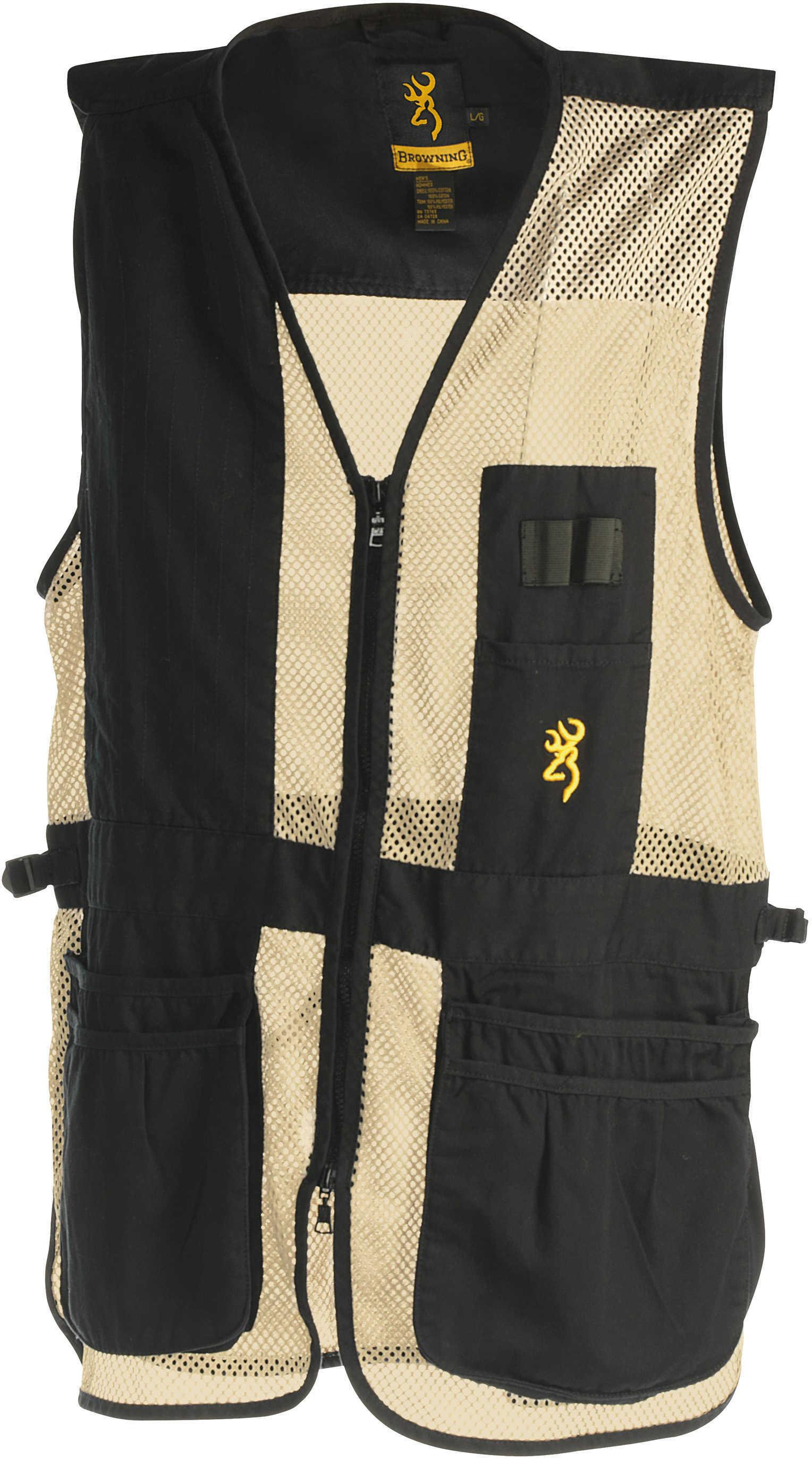 Browning Trapper Creek Vest Black/Tan Medium Md: 3050268902