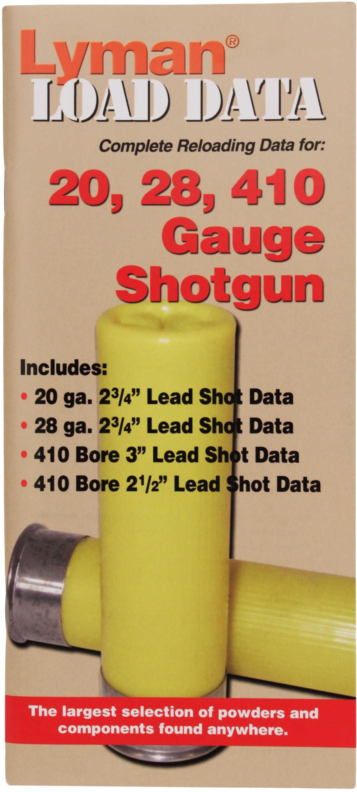 Lyman Load Data Book 16, 20, & 28 Gauge Md: 9780002