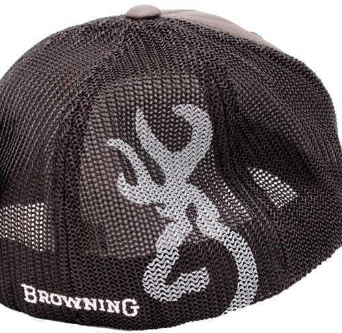 Browning Colstrip Flex Fit Cap Gray Small/Medium Md: 308702892