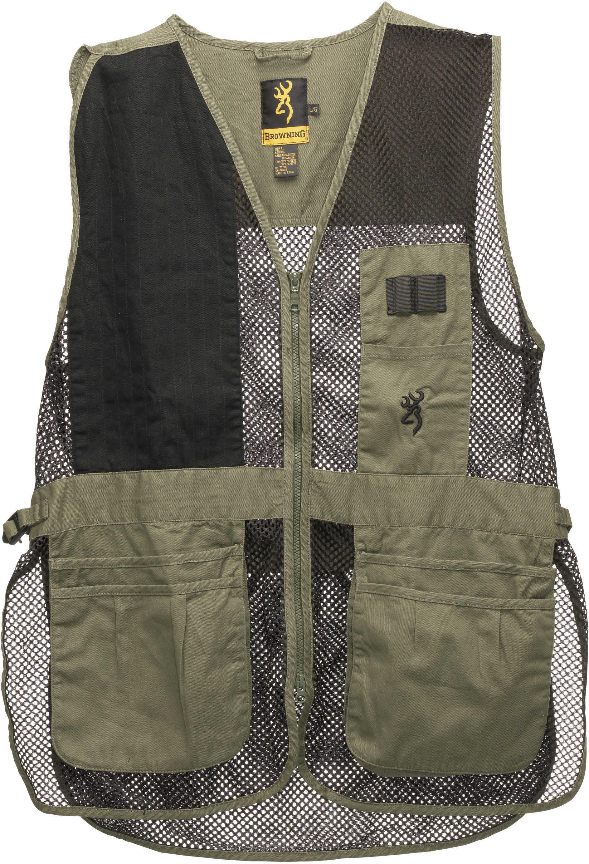 Men's Browning Trapper Creek Mesh Vest Sage/Black Size Small