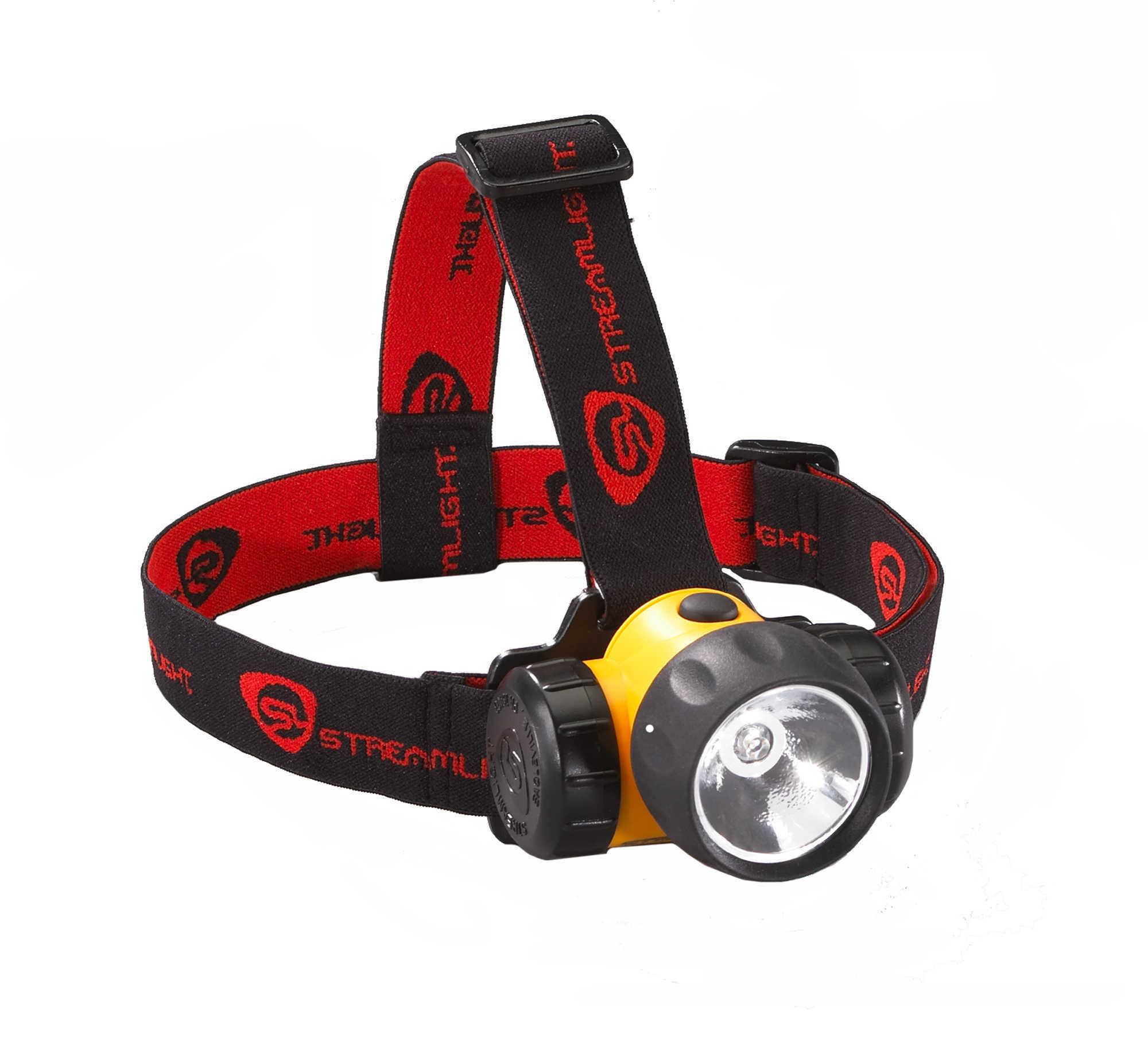 Streamlight 3AA HAZ-Lo® W/Batteries Rubber & Elastic Straps, Yellow Md: 61200