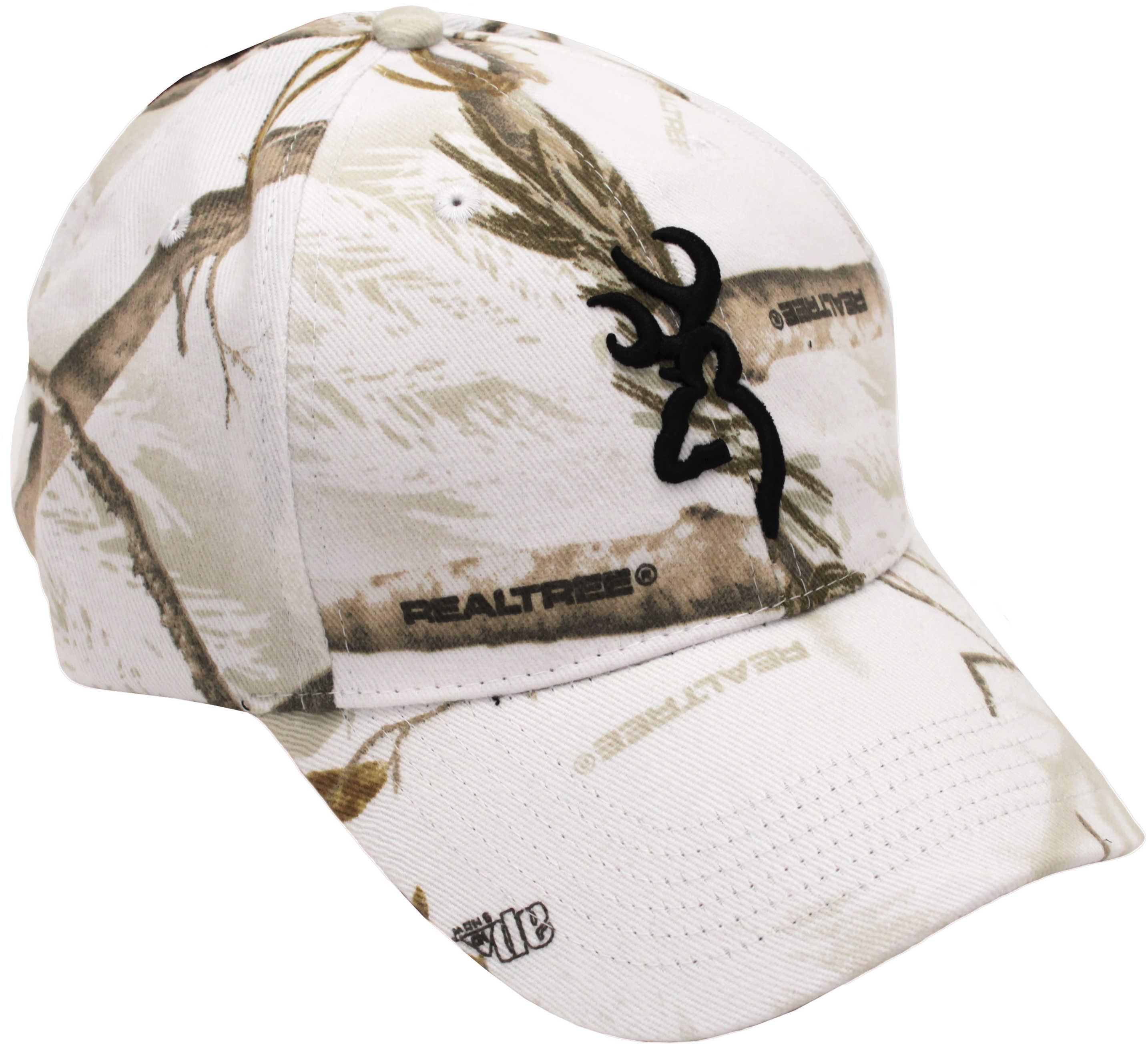 Browning Rimfire 3D Buckmark Cap Realtree Snow Md: 308379271