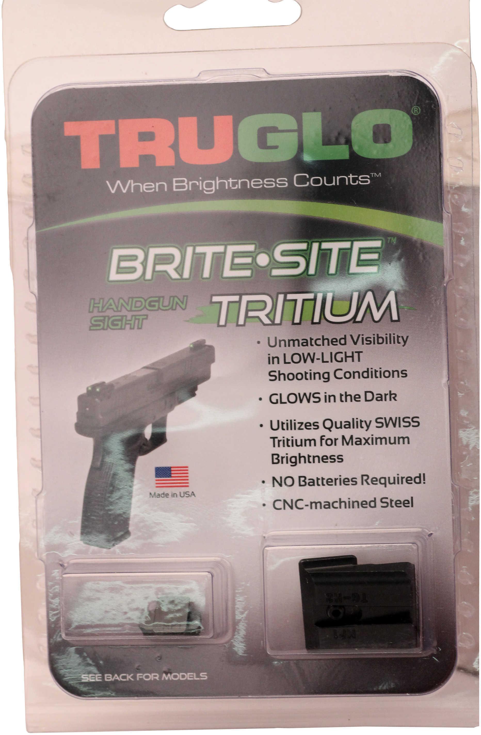 Truglo Brite Site Tritium Handgun Sight Set S&W M&P,Sd9 And Sd40 Md: TG231MP