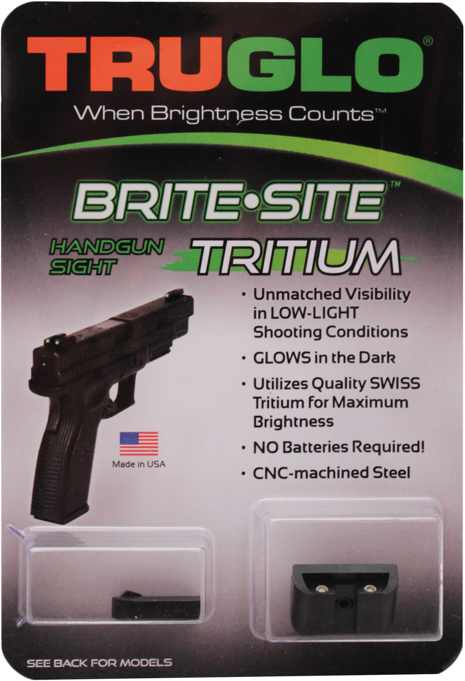 Truglo Brite Site Tritium Handgun Sight Set Glock 20, 21, 29, 30, 31, 32 And 37 Md: TG231G2