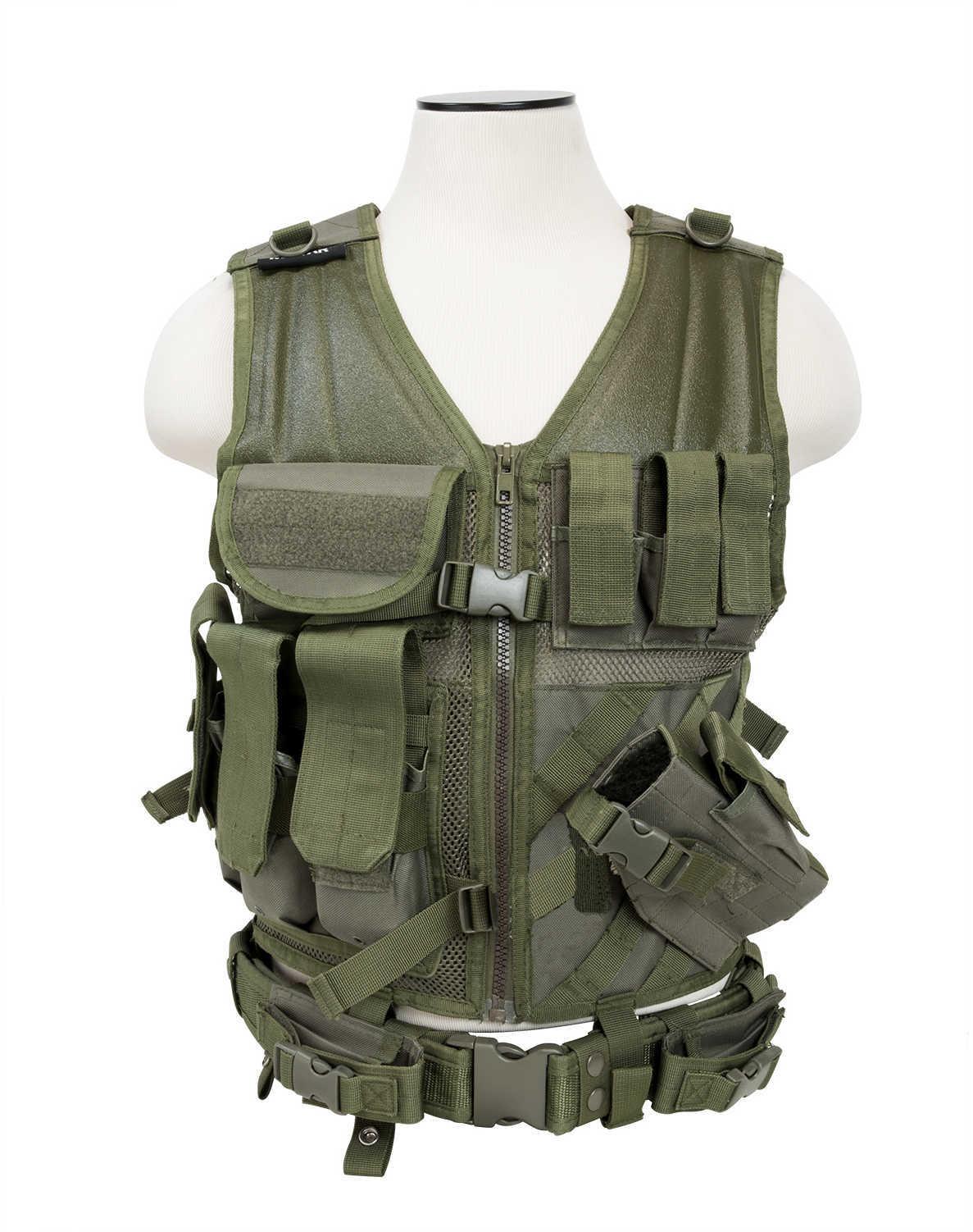 Tactical Vest Green Md: CTV2916G