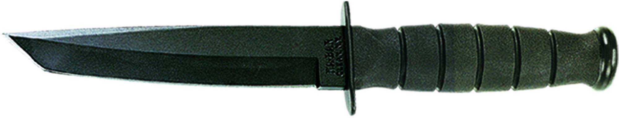 Ka-Bar Black Short Fighting/Utility Knife Tanto, Black, Clampack Md: 4-1254CP-7