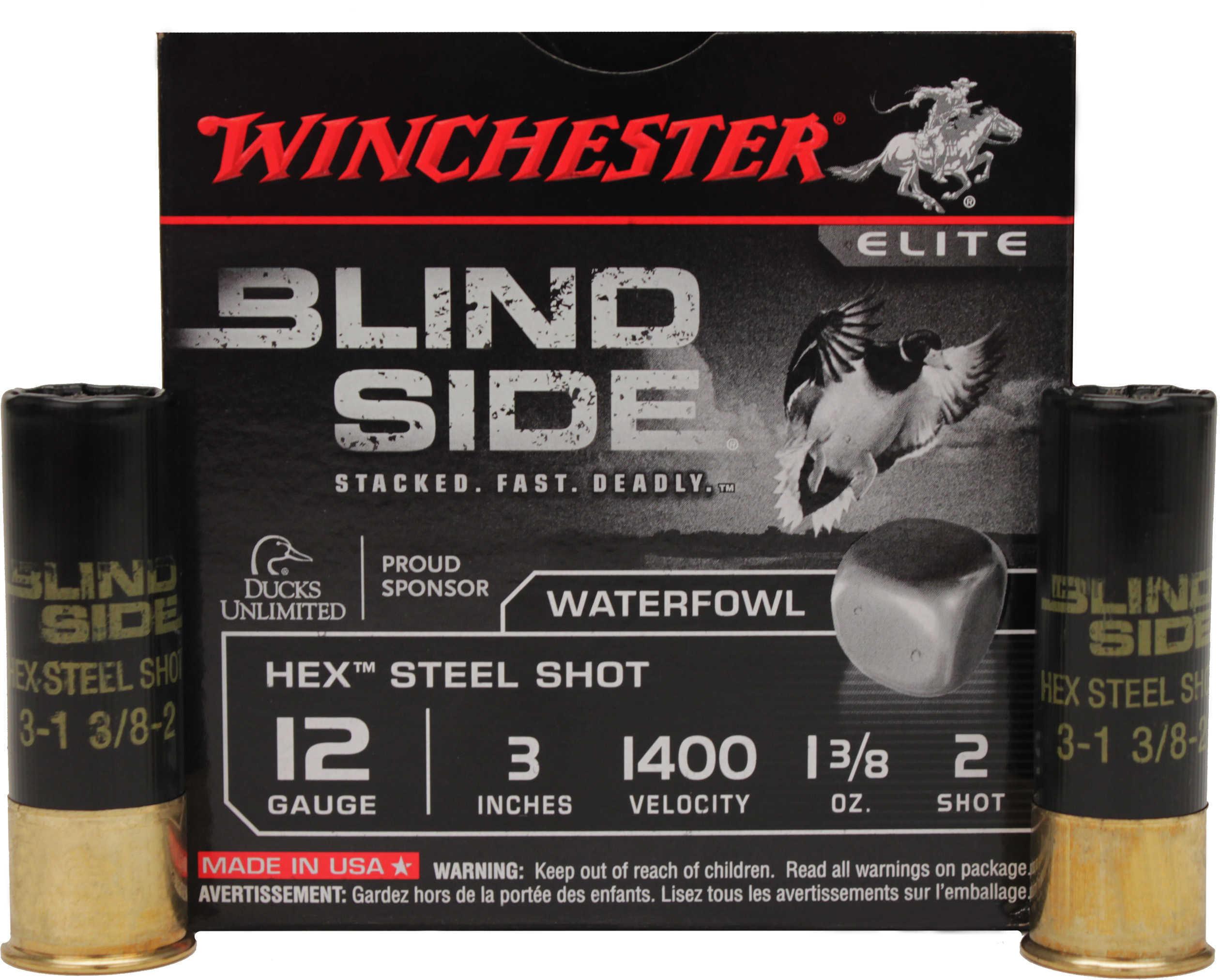 """Blindside 12 Gauge 3"""" 2 Shot Steel 1 3/8 Oz (Per 25) Md: SBS1232"""