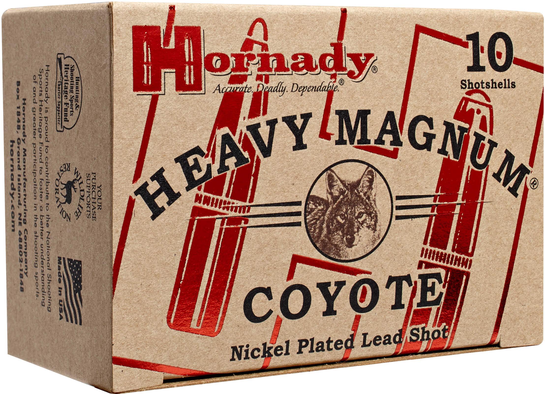 "Hornady Heavy Mag Coyote 12 Gauge 00 Nickel 3"" /10 Md: 86224"