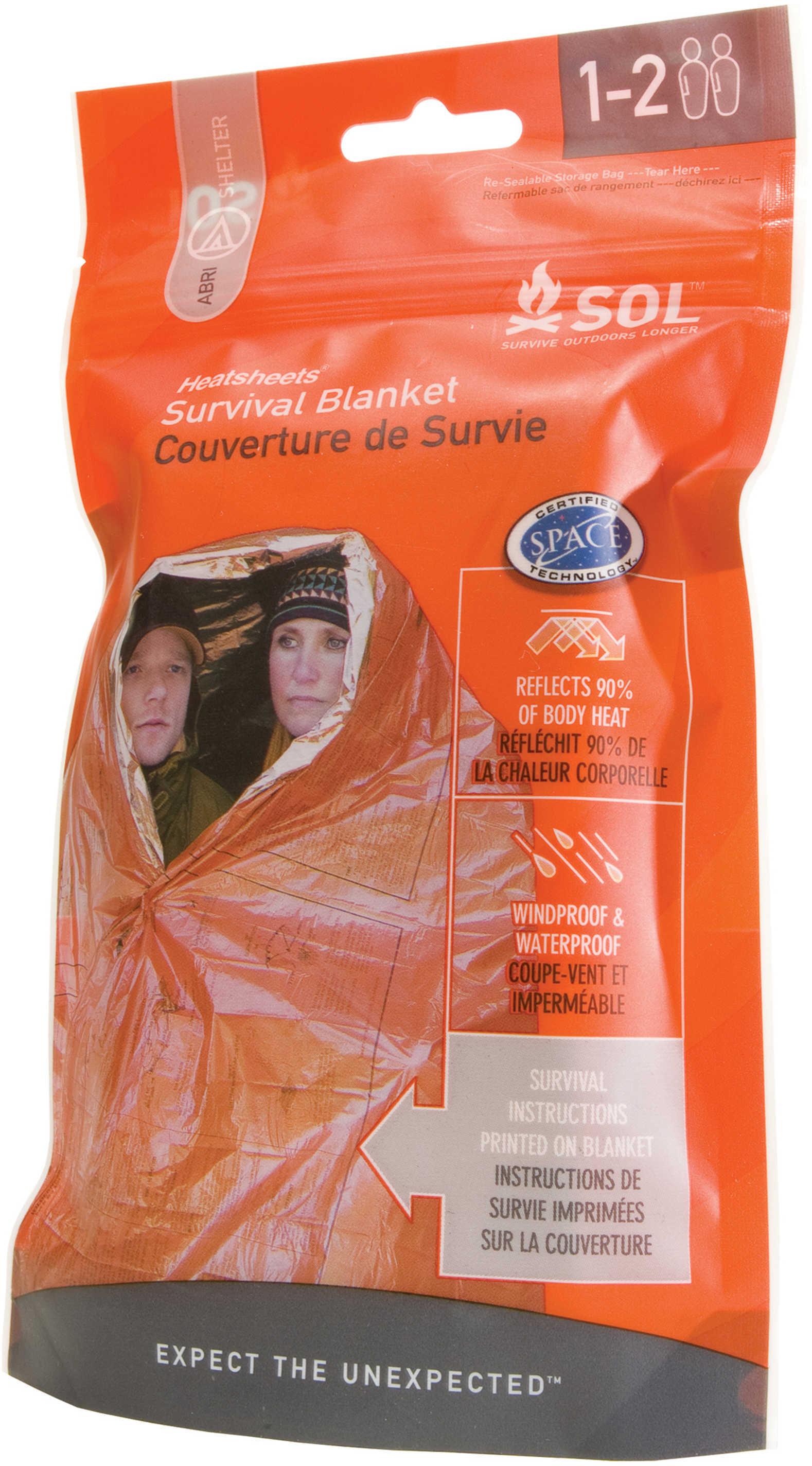 Adventure Medical Kits 01401701 Survival Blanket 2 Person Orange