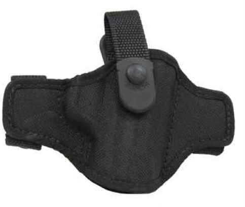 Bianchi 7506 AccuMold Belt Slide Holster, Thumb Snap Plain Black, Size 04, Right Hand Md: 17852