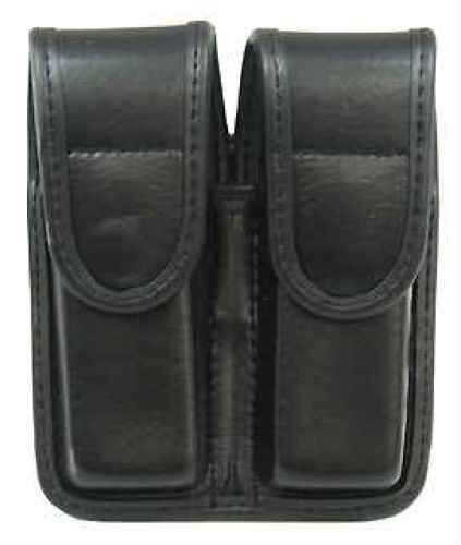 Bianchi 7902 AccuMold Elite Double Mag Pouch Size 2, Plain Black, Hidden Snap Md: 22078