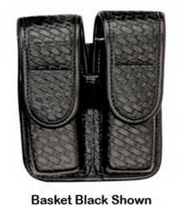Bianchi 7902 AccuMold Elite Double Mag Pouch Size 2, Basket Black, Hidden Snap Md: 22079