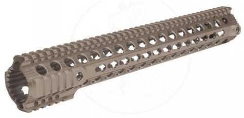 """Troy Bravo Rail Fits AR Rifles 15"""" Key Mod Flat Dark Earth Finish STRX-BK1-15FT-00"""