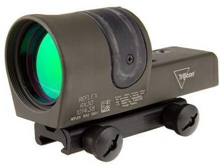 Trijicon 1X42mm Reflex 6.5 MOA Dot Reticle Cerakote, OD Green Md: Rx30-C-800090