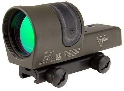 Trijicon 1X42mm Reflex Amber 4.5 MOA Dot Reticle, Cerakote OD Green Md: Rx34-C-800108