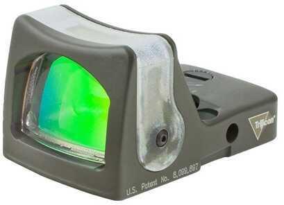 Trijicon RmR Sight Dual Illuminated 12.9 MOA, Green Triangle, Cerakote, OD Green Md: Rm08-C-700281