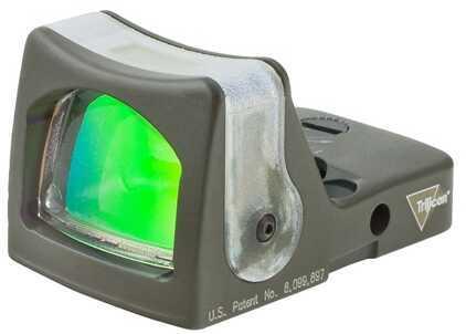 Trijicon RmR Sight Dual Illuminated, 7 MOA Amber Dot, Cerakote, OD Green Md: Rm04-C-700164