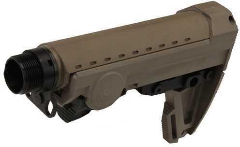 Ergo Grip F93 Pro Stock Stock Dark Earth/Black Scorpion Butt Pad 8 Position With Buffer Tube AR-10 4924-De