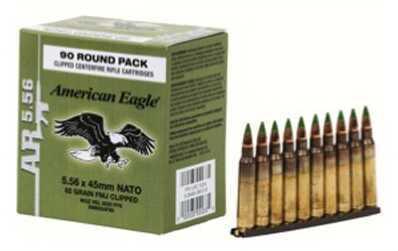 Federal Cartridge 5.56mm 62 Grain FMJ Stripper Clipped (Per 90) Md: XM855Af90