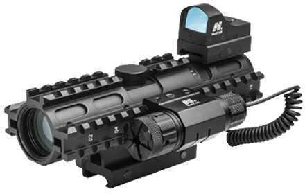 3Rs Tri-Rail Combo 2-7X32 Mil Dot/ Micro Dot/ Red Laser Md: KAR3RsM2732G